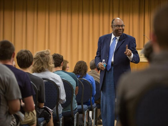 In October, William Pickard spoke to students and staff