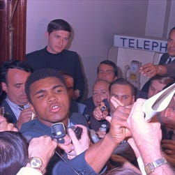 What happened to the draftees who stepped forward the day Muhammad Ali stood still?