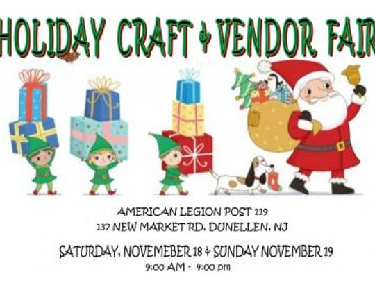 A Holiday Craft & Vendor Fair is slated for 9 a.m.