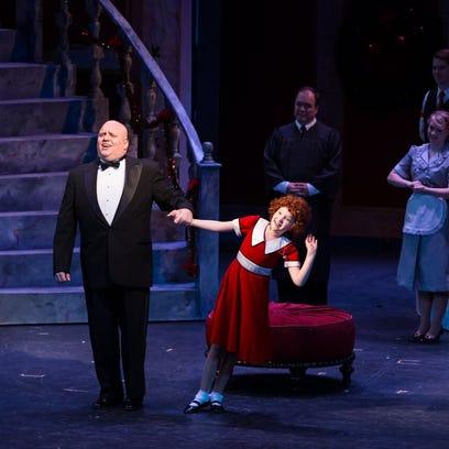 Anna Barrett plays Annie at a local theatre.