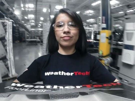 Screengrab from WeatherTech's ad, America at Work.
