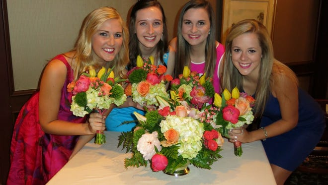 "Demoiselle Debutantes Annie M. Brittain,Courtney Ann Prestwood, Mary Katherine Horton,Avery D. Givens were introduced at at ""A Morning Toast to the Season."""