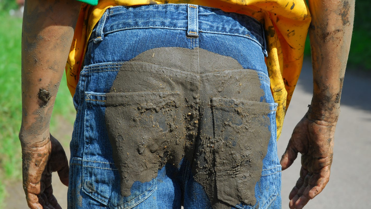 nordstrom is selling $425 jeans covered in fake mud, mike rowe
