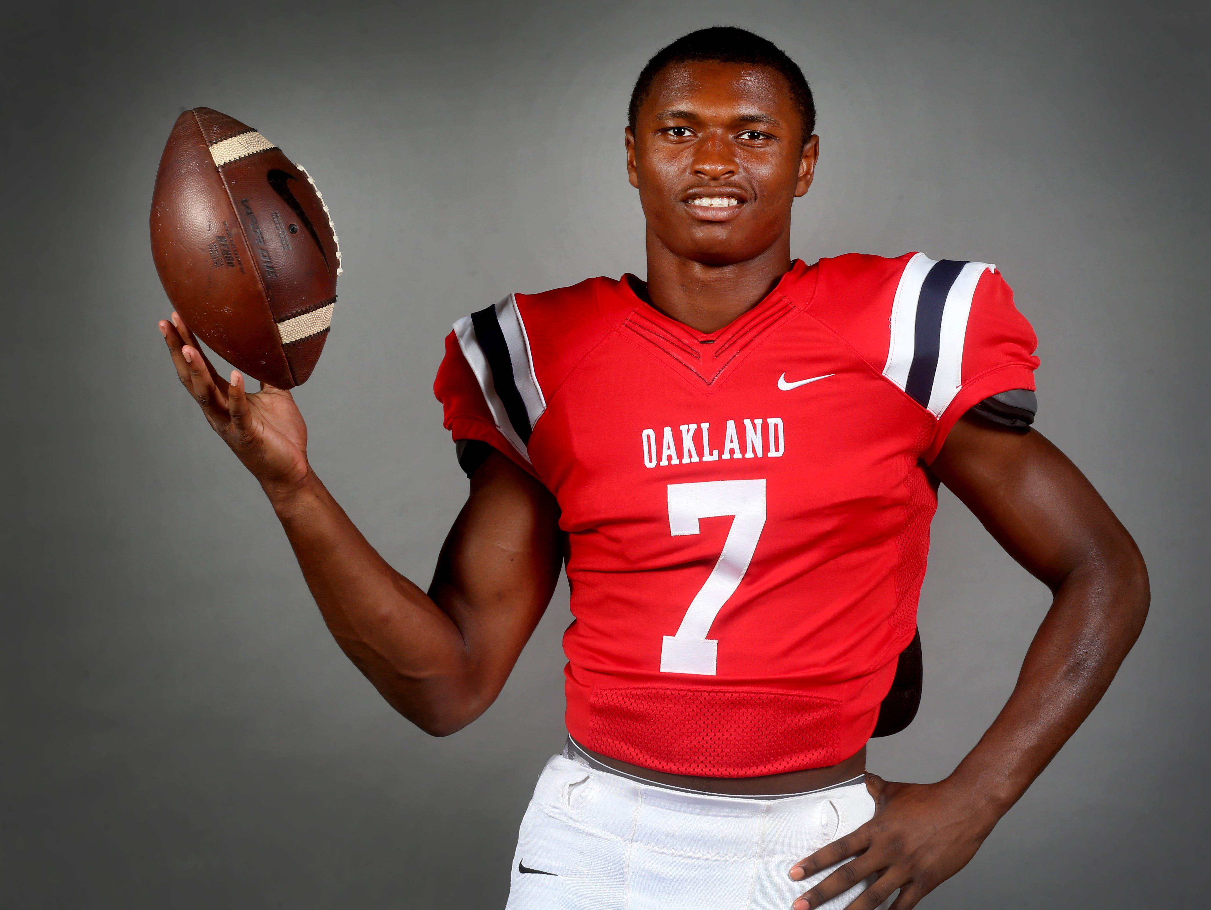 Oakland's JaCoby Stevens will announce his college football decision at 2:30 p.m. Monday at Oakland High School.