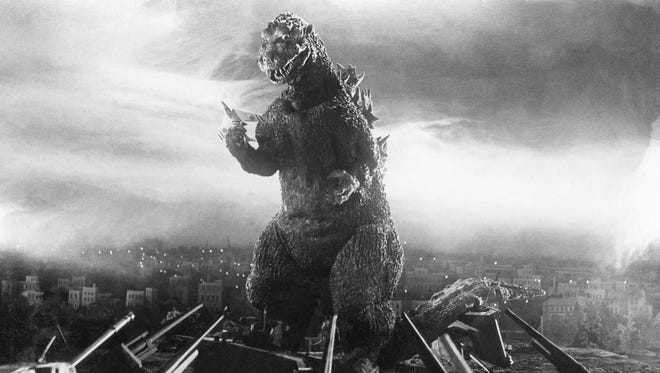 "This photo taken from a scene of the 1954 film ""Godzilla"" is provided by Toho Co. Ltd. The 1956 film, ""Godzilla, King of the Monsters,"" is still the favorite of columnist Larry Robinson."
