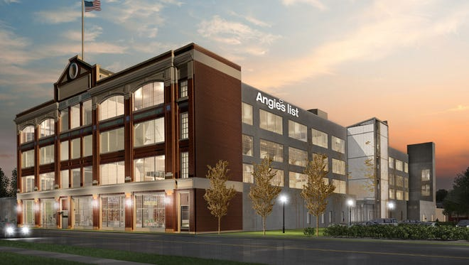 Artist's rendering of the Angie's List offices in the former Ford plant on E. Washington.