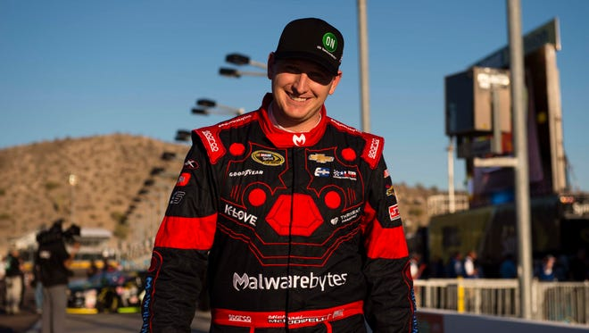 Nov 11, 2016: Sprint Cup Series driver Michael McDowell (95) during qualifying for the Can-Am 500 at Phoenix International Raceway.