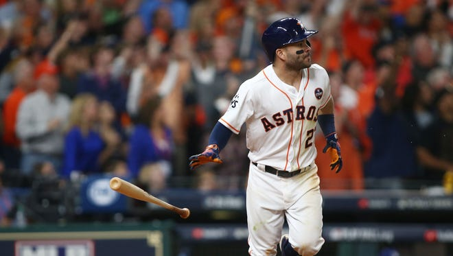 Jose  Altuve set career highs in batting average (.346), on-base (.410) and slugging percentage (.547).