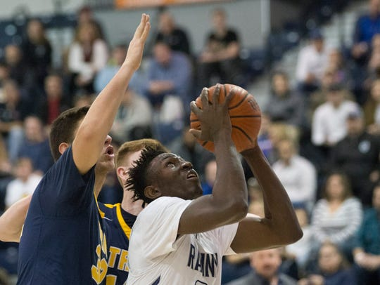 Ranney School's Savior Akuwovo during first half action.