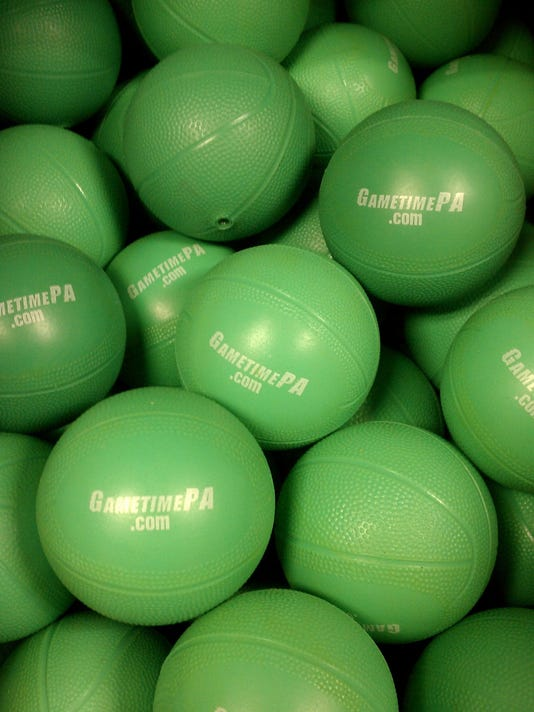 That's a lotta GameTime basketballs to give away.
