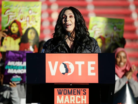 """Cher addresses the Women's March: """"Power to the Polls"""""""