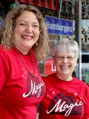 ItÕs all smiles for Magic at the Mill ambassadors Norma Gekakis and Amy Vandergrift.