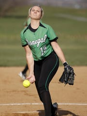 Donegal's Makyla Yoder pitched a strong game against Warwick for the win at Donegal High School in Mount Joy on Thursday, March 24, 2016. Donegal won, 5-2.