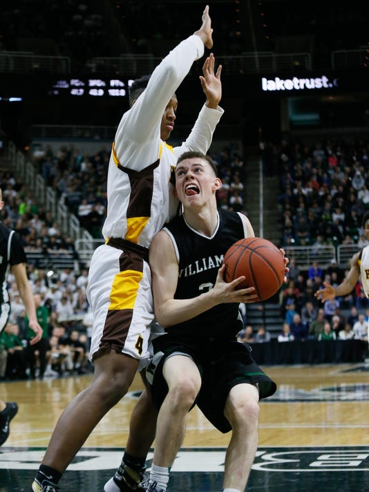 Williamston's Riley Lewis, Detroit Henry Ford's Kavon Bey