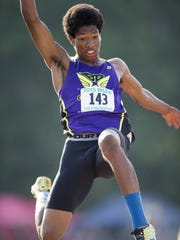 Ben Davis' Christian Powell won last year's long jump at the boys track and field state finals June 5 at Indiana University in Bloomington.