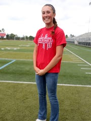 Junior Ellie Slama is nominated for an award in the Statesman Journal's Mid-Valley Sports Awards to be held in June. Photographed at South Salem High School on Tuesday, May 24, 2016.