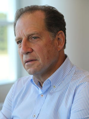 New Detroit Pistons vice chairman Arn Tellem talked about the Pistons on Thursday, September 10, 2015 at The Palace of Auburn Hills offices.