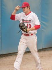 Battle Creek Bombers relief pitcher Colton Bradley.