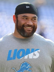 Aug 27, 2016; Baltimore, MD, USA;  Lions DT Haloti Ngata prior to the game against the Baltimore Ravens at M&T Bank Stadium.