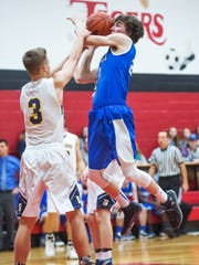 McConnellsburg's Chance Hawbaker (32) is one of the