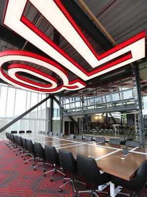 A conference room at the Quicken Loans Technology Center in Corktown, Detroit on Tuesday, June 30, 2015.
