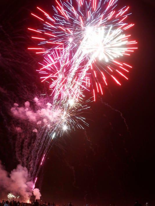 Seaside Fireworks
