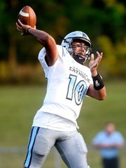 Michael Lynn III and Lansing Catholic host Portland in a matchup of first-place CAAC White teams on Friday.