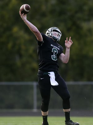 Williamston's Jackson Pollak ranks among the passing leaders in the Lansing area.