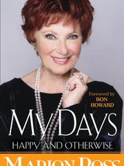 Cover of Marion Ross's book My Days Happy and Otherwise, published March 27, 2018