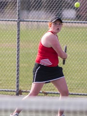 St. Philip's Annie Newton at the All-City Tennis tournament