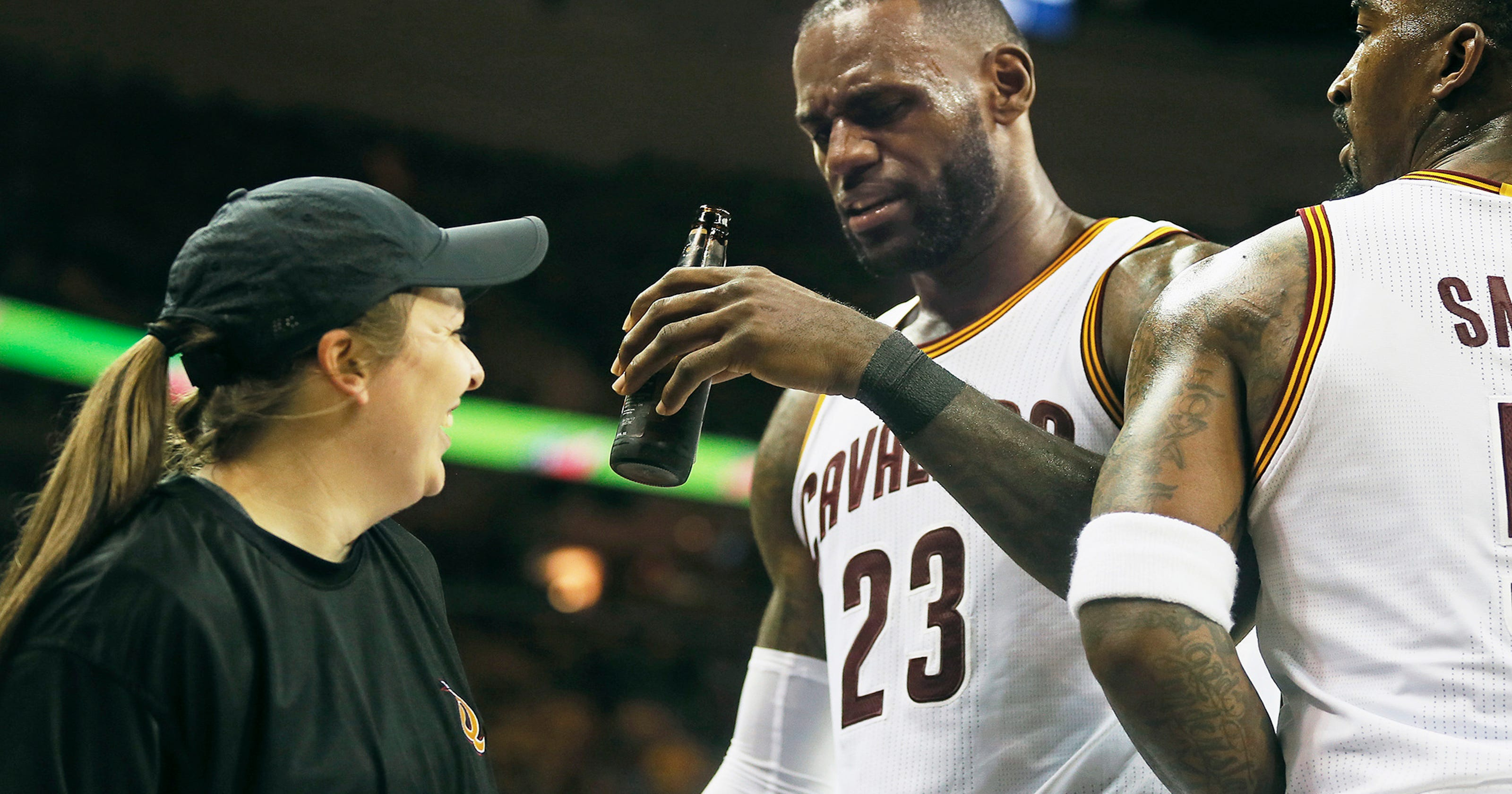 d035651aa07 LeBron James to pay teammate s  6K fine for Game 1 ejection