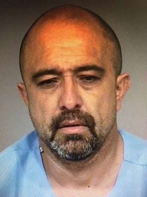 George Rico, 48, of Oxnard, was arrested Thursday night after leading Port Hueneme police on a pursuit on a reportedly stolen motorcycle, according to authorities.