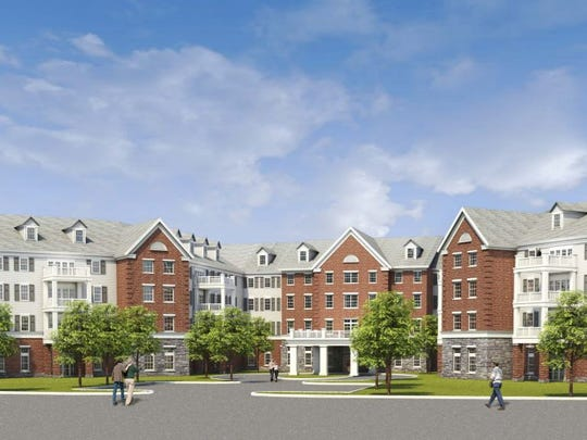 A rendering of a proposed senior housing facility in