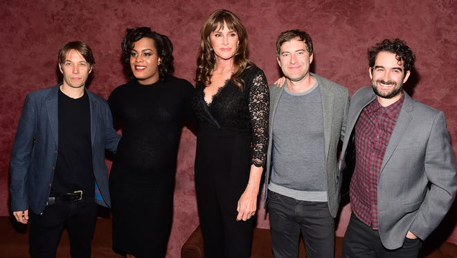 Director Sean Baker, actress Mya Taylor, Caitlyn Jenner, and producers Mark and Jay Duplass attend a special screening of 'Tangerine.'
