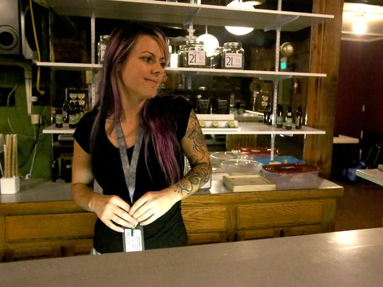 Crystal Young, who manages the CannaMedicine Marijuana