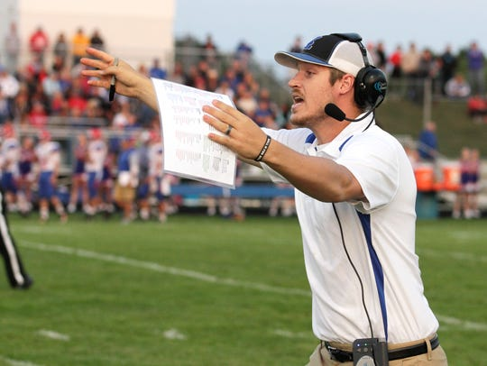 Croswell-Lexington coach Garrett Grundman