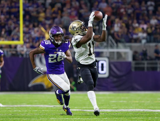 New Orleans Saints wide receiver Tommylee Lewis (11)