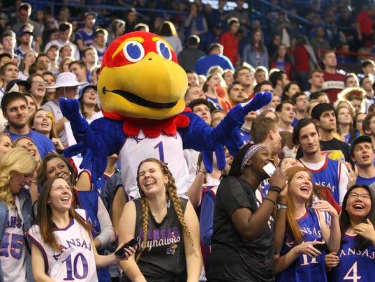 NCAA Basketball: Texas A&M at Kansas