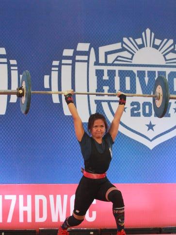 Armie Almazan, who lifts in the 75-kilogram class,