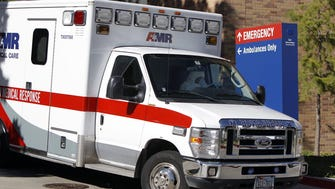 An ambulance in Dallas, Oct. 15, 2014
