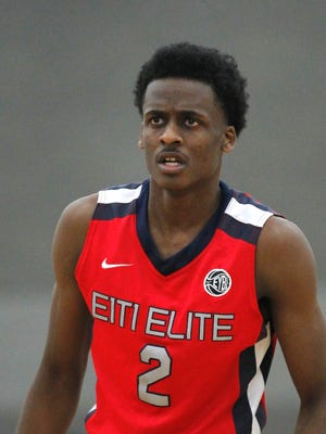 Antonio Blakeney played in the AAU basketball Championship and Super Showcases at the Fairgrounds in Louisville last month.