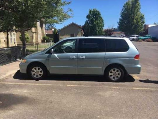 Keizer Police are asking to speak with anyone who might have seen or captured surveillance footage of this blue 2004 Honda Odyssey minivan   in any rural, farmland or forested areas northeast of Keizer, Brooks, Lake Labish, Silverton, Mt. Angel, Scotts Mills or Molalla.