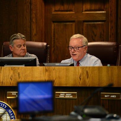 Ocean City Mayor Rick Meehan speaks as he agrees to