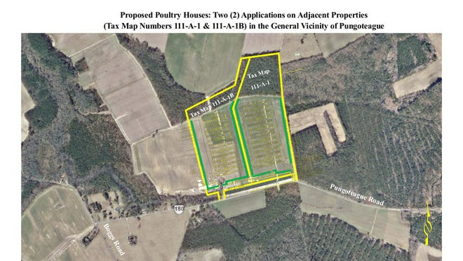Accomack County's new poultry farm ordinance allows up to 12 poultry houses per parcel of land, but 24 houses under construction on adjacent parcels on Pungoteague Road have some citizens concerned about the growth of the industry.
