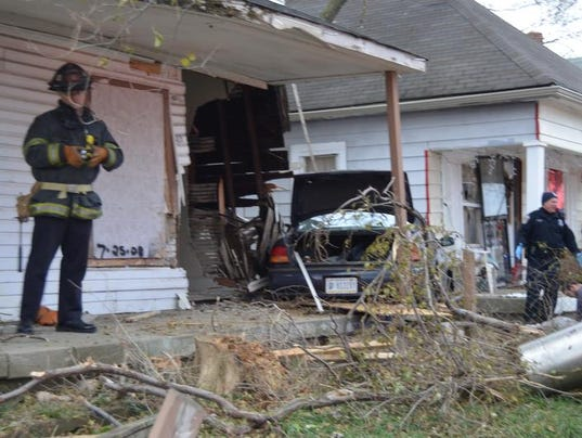 Car Crashes Into House Indianapolis