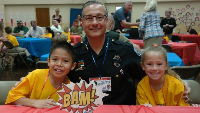 Vero Beach police chief David Currey said his second-grade friends are his new heroes.