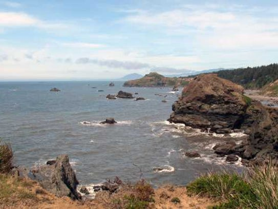 Otter Rock State Scenic viewpoint.