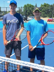Lakeland's top two singles players this year will be freshman David Pluszczyk (right) and junior Noah Hardy (left).