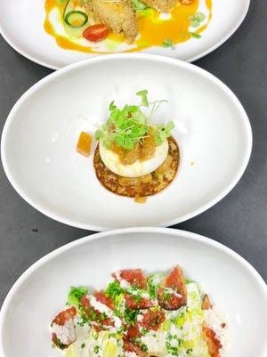 three new dishes --stuffed zucchini...