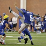 Giants punter unhurt in crash on NJ Turnpike